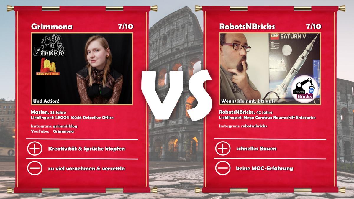 Grimmona (LEGO® Masters Kandidatin Grimmona) vs RobotsNBricks