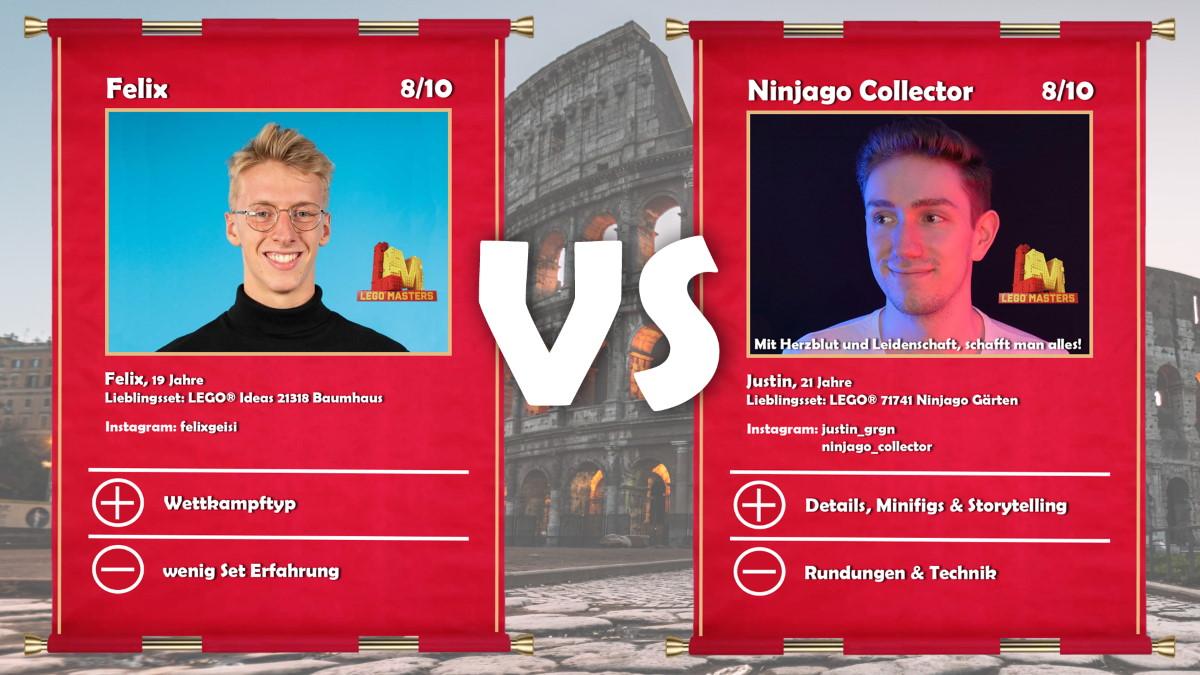 Felix (LEGO® Masters Gewinner) vs Ninjago Collector (LEGO® Masters Gewinner Justin)