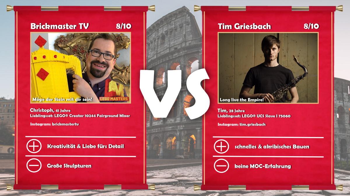 Brickmaster TV (LEGO® Masters Kandidat Christoph) vs Tim Griesbach