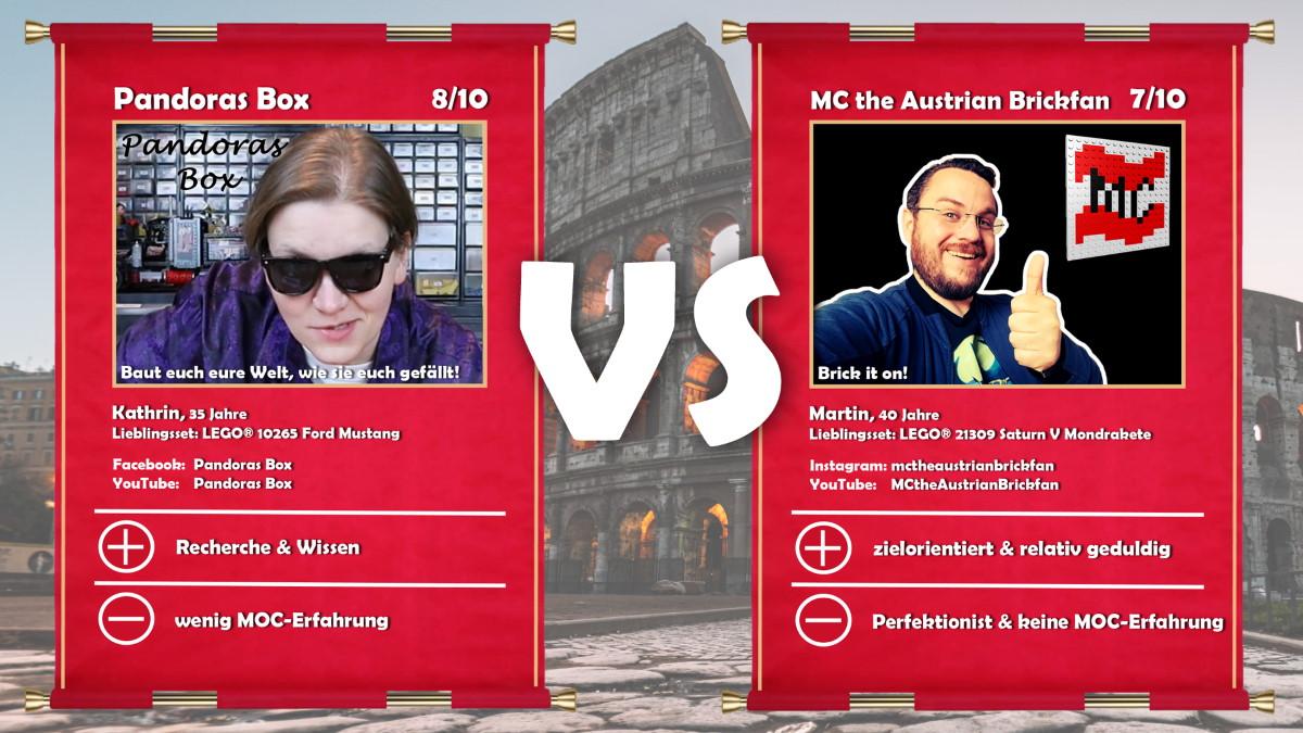 Pandoras Box (Kathrin) vs MC the Austrian Brickfan (Martin)