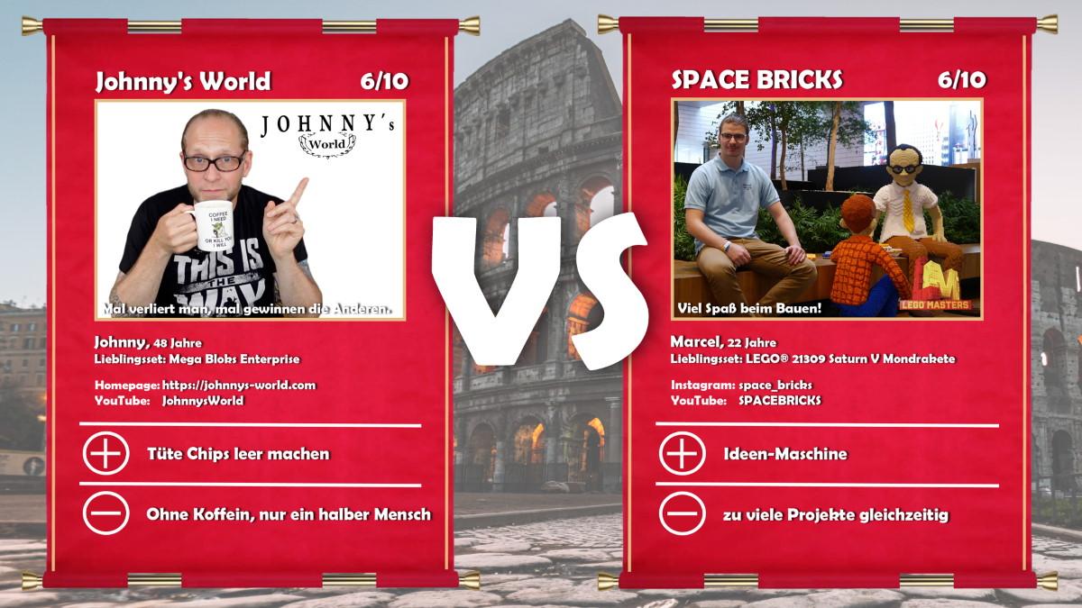 Johnny's World (Johnny) vs Space Bricks (Marcel)