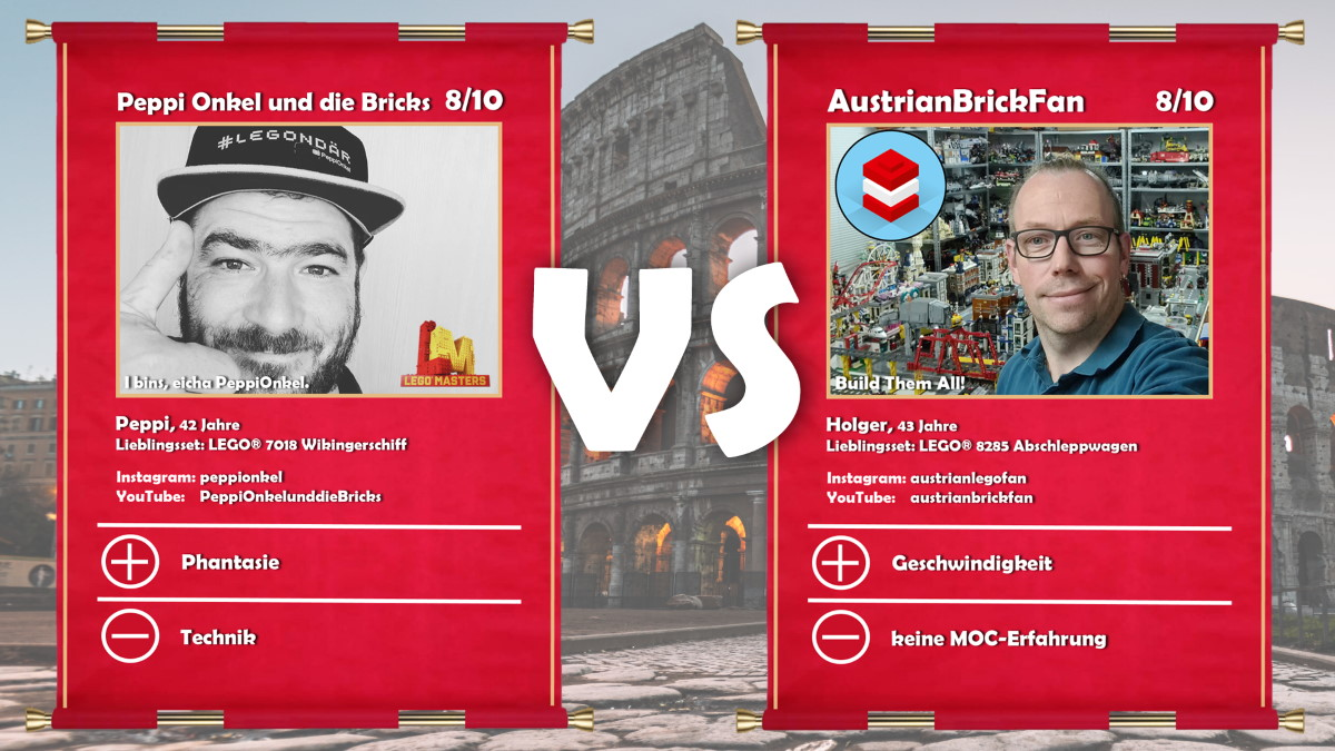 Peppi Onkel und die Bricks (LEGO® Masters Kandidat Josef) vs AustrianBrickFan (Holger)